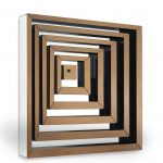 Maze Mirror – 90x90 cm || four options of installation