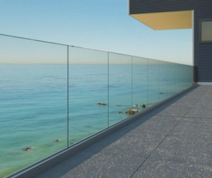 railing kaca frameless